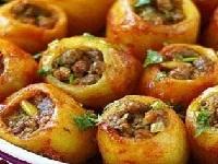картофель фаршированный мясом, картофель с мясом внутри, картофель фаршированный мясом фото, фото картофеля с мясом