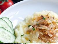 картофельное пюре с репчатым луком, картофельное пюре с репчатым луком фото, пюре из картофеля с луком