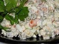 салат зимноий, как готовить салат зимний, салат из картошки, салат из картошки фото