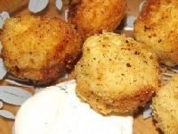 жареные картофельные орешки, орешки из картофеля фото