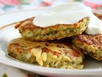картофельные оладьи с сыром и укропом, как готовить оладьи с сыром, оладьи с сыром фото