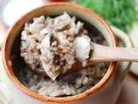 Гречневая каша, запеченная с грибами и сметаной, Гречневая каша, запеченная с грибами и сметаной рецепт, Гречневая каша, запеченная с грибами и сметаной фото