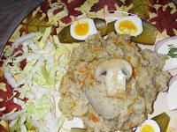 Ячневая каша с мясом и грибами