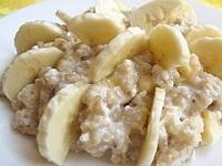 Рисовая каша с бананом рецепт, Рисовая каша с бананом фото, как готовить рисовую кашу с бананом